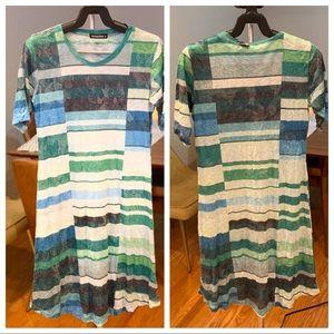 David Cline, short sleeve t-shirt dress